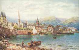 GB OBAN / The Harbour / COLORED CARD - Argyllshire