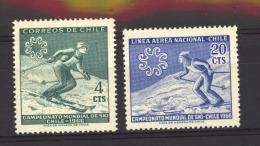 Chili  :  Yv  309  + Av 225  **  Sport ,   Ski - Cile