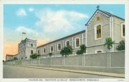 """VE BARQUISIMETO / Fachada Del """"Instituto La Salle"""" / CARTE COULEUR - Venezuela"""