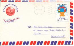 Vietnam Air Mail Cover 3- 7-1998 Single Stamped - Vietnam
