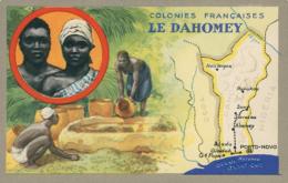"""BJ BENIN DIVERS / """"Colonies Françaises, Le Dahomey"""", Carte Géographique / CARTE COULEUR - Benin"""