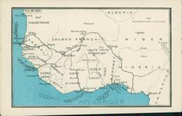 BJ BENIN DIVERS / Carte Géographique / CARTE COULEUR - Benin