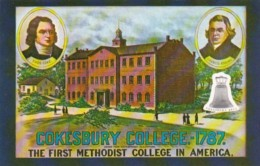 Cokesbury College 1787 First Methodist College In America - Christianity