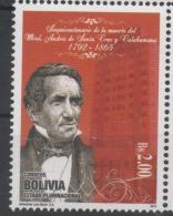 BOLIVIA,2015, MNH,ANDRES DE SANTA CRUZ Y CALAHUMANA, INDEPENDENCE HEROES, 1v - History