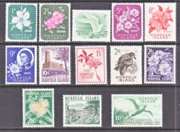 NORFORK  ISLAND  29-41     *  FLOWERS  BIRDS - Norfolk Island
