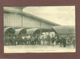 PARIS 19e - MARCHE AUX BESTIAUX DE LA VILLETTE - VOITURES TRANSPORTS DEVANT LA GRANDE HALLE - Distretto: 19