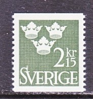 SWEDEN   590  *  1961-5  ISSUE - Sweden