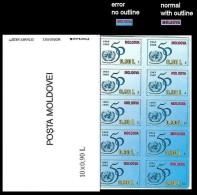 "MOLDOVA 1995 UNICEF 0.9 ERROR:no Outline ""MOLDOVA""   [Fehler,erreur,errore,fout] - Moldawien (Moldau)"