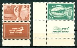 Israel - 1950, Michel/Philex No. : 30/31, CORNER TAB, - MNH - Full Tab - - Israel