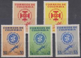 6297  - COLUMBIA - 1962 Malaria Eradication. Scott 740-41, C426-8. Mint Very Lightly Hinged * - Colombie