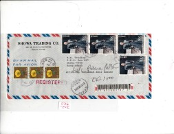 COVER REGISTERED  FROM JAPAN TO BANGLADESH. SEE SCAN . - Japan