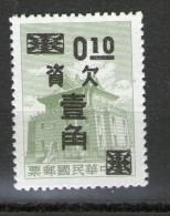 TAIWAN 1964 TAXE  YVERT   N°T30  NEUF MNH** - 1945-... République De Chine
