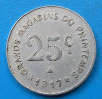 Aude 11 Narbonne Grands Magasins Du Printemps 25 Centimes Elie 50.6 - Notgeld