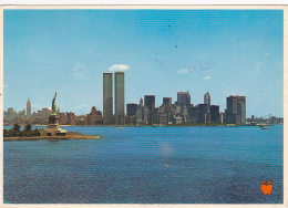 New York Bay, Statue Liberty, Empire State Building, World Trade Center, Brooklyn Bridge - Circulé 1981 - World Trade Center