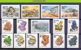 Ncf052 MINERALEN MIJNBOUW MINING GOLD DIAMONDS GEMSTONES MINERALIEN UND GESTEINE MINÉRAUX NAMIBIA 1991 PF/MNH - Mineralen