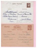 FRANCE --  LOT DE 15 ENTIERS POSTAUX PERIODE WW2 -- - Lots Et Collections : Entiers Et PAP