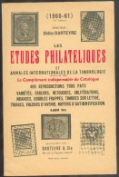 DARTEYRE Didier, Les Etudes Philatéliques Et Annales Internationales De La Timbrologie 1960-61, Paris, 1961, 224 Pages. - Handbücher