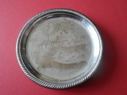 CENDRIER ARGENTE  CRAVACHE D OR DE MALESAN - Metallo