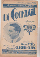 (ALI) Un Cocktail  , ALIBERT , Musique : CH BOREL-CLERC , Paroles : VINCENT TELLY - Partituras
