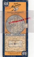 79 - NIORT- 36- CHATEAUROUX - CARTE ROUTIERE MICHELIN 1945- GUERRE 1929-1945- - Cartes Routières