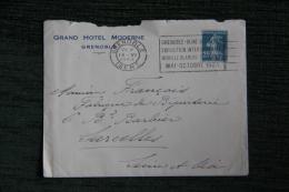 Enveloppe Publicitaire Timbrée Avec Lettre, GRENOBLE, Grand Hotel MODERNE - Francia