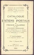 A.C.E.P., Catalogue Des ENTIERS De FRANCE, D´ALGERIE Et Des Colonies Françaises, 1er Supplément à La 5ème Ed., Amiens, 1 - Entiers Postaux