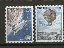 MONACO 1983 ESPACE-NAVETTE-MONGOLFIER E  YVERT   N°1365/66  NEUF MNH** - Space