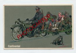 PROPAGANDE Allemande-CONTINENTAL AG.-Hannover-MOTO-CARICATURE-SATIRE-DESSIN-Carte All.-Guerre 14-18-1 WK-Militaria- - Guerre 1914-18