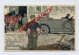 PROPAGANDE Allemande-CONTINENTAL AG.-Hannover-AUTO-CARICATURE-SATIRE-DESSIN-Carte All.-Guerre 14-18-1 WK-Militaria- - Oorlog 1914-18