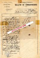 GUERRE 1914-1918- WW2-MILITARIA-BULLETIN CORRESPONDANCE 139 E REGIMENT INFANTERIE-15- AURILLAC-M. BOUDAU-1910 - 1914-18