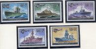 SOVIET UNION 1982 Warships Set Of 5 MNH / **.  Michel 5216-20 - Unused Stamps