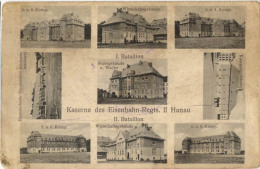 ALLEMAGNE HANAU KASERNE DES EISENBAHN REGTS - Hanau