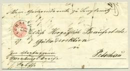 Österreich - 1867 - 5 Kr On Folded Cover From Buchau To Petschau - Briefe U. Dokumente