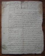 Floréal An 6: Contrat De Mariage Entre Etienne Dupuy Et Marie Thérèse Frutier à Muret - Manuscripts
