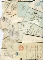 France - Lot De 20 Lettres Ou Enveloppes Période 1808/1862  Voir 5 Scans  Réf. 1145 - Poststempel (Briefe)
