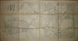 Stadtplan Von Berlin Verwaltungsbezirk Tempelhof - Zustand September 1945 - 74cm X 140cm 1:10'000 - Karten
