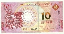 Macao - 10 Patacas 2015, - Macao