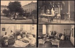 8 X CPA HOPITAL SAINTE ELISABETH A ANVERS - DOCTEUR - RADIOLOGIE - LABO - Infirmière - Laboratoire - Santé