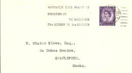 POSTMARKET WARWICK 1966 - Postmark Collection