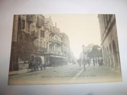 4ane - CPA - BELFORT - Faubourg De Montbéliard Et Place Du Théatre - [90] - Territoire De Belfort - - Belfort - Ville