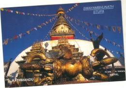 Népal - Cpsm - KATHMANDU - Swayambhunath - Stupa - Nepal