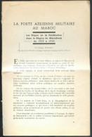 FOUMINET Georges, La Poste AERIENNE Militaire Au MAROC (les étapes De La Pacification Dans La Région De Marrakech De 192 - Poste Aérienne & Histoire Postale