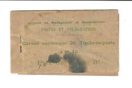 COLONIE De MADAGASCAR Et Dépendances , Carnet De Timbres  0,15 C ( Incomplet  - Il Reste 11 Tp /  20 )