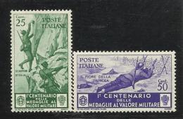 1934 Italia Italy Regno MEDAGLIE  25c E 50c (369 E 371) MLH* - 1900-44 Vittorio Emanuele III