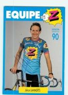 Johan LAMMERTS ,  Autographe Manuscrit, Dédicace.  2 Scans. Cyclisme. Equipe Z - Radsport