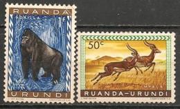 Timbres - Afrique - Ruanda-Urundi - Lot De 2 Timbres - - Ruanda-Urundi