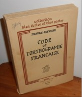 Code De L´orthographe Française Maurice Grévisse. - Cultura