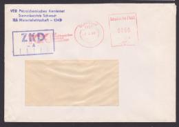 Chimie Essence Petrol DDR Schwedt Petrolchemisches Werk AFS =0060= ZKD -A- Doppelbrief - [6] Democratic Republic