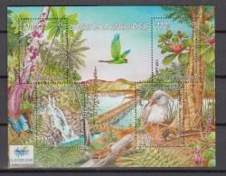 New Caledonia 2011,4V In Block,birds,vogels,vögel,oiseaux,pajaros,uccelli,aves,fleurs,bloemen,MNH/Postfris(L2385) - Unclassified