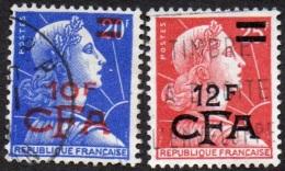 Réunion Obl. N° 337 Et 337A - Marianne De Muller Surchargés - Oblitérés